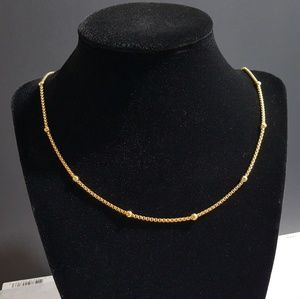 Jewelry - Gold Plated Popcorn Station Chain